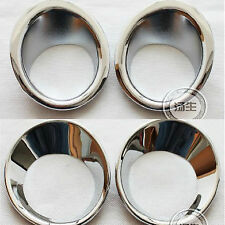 FIT FOR 07-09 NISSAN QASHQAI DUALIS FRONT REAR CHROME FOG LIGHT LAMP TRIM COVER
