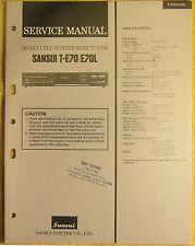 Sansui T-E70 E70L Synthesizer Tuner Service Manual vtg Repair Infomation