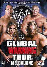 WWE - Global Warning Tour (DVD, 2002) Triple H, The Rock, Brock Lesnar