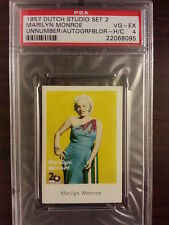 1957 Dutch Gum Studio Set 2 Autografbilder MARILYN MONROE Vintage PSA 4 RARE!!