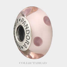 Authentic Pandora Sterling Silver Murano Pink Polka Dots Bead 790618 *RETIRED*