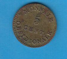 5 Centimes Siège d' Anvers en laiton Napoléon Empereur 1814