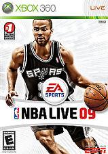 NBA Live 09  (Microsoft Xbox 360, 2008)