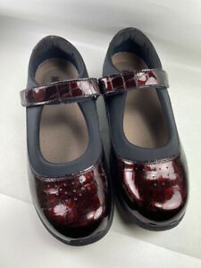 DREW Rose Black Patent Leather Mary Janes Comfort Shoes Size 9.5 W