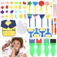 42x Schwamm Pinsel Zeichnung Spielzeug Dichtung Kinder Malerei Werkzeuge DIY