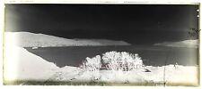 Plaque de verre négative panorama d'une ville à identifier vers 1900