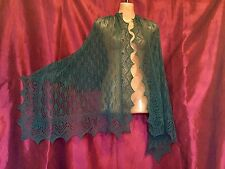 Beautiful lace 100%cashmere shawl / scarf / wrap,  col: Teal