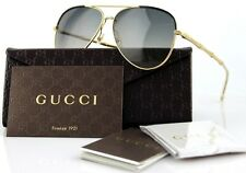 RARE NEW Authentic GUCCI Bamboo Aviator Gold Grey Sunglasses GG 4276/S J5GDX 2