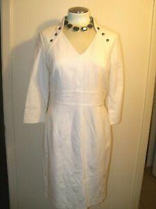 WHITE HOUSE BLACK MARKET sz 16 ECRU PONTE DRESS VERSATILE -NWT-GORGEOUS! $148