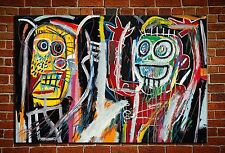 "Jean-Michel Basquiat ""Dustheads"" HD print on canvas huge wall picture 36x24"""