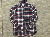 Jachs Mfg Co Flannel Button Front Shirt Men's Small Long Sleeve Red Plaid