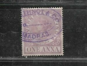 INDIA QUEEN VICTORIA ONE ANNA STAMP (USED) FROM??