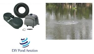 NEW <1.5 acre Large POND aerator system w/ 2 Diffusers/ Sink tube/Complete KIT