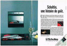 Publicité Advertising 1989 (2 pages) Electroménager Scholtès