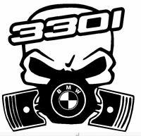 Calavera bmw serie 3 330i etc... Tuning sticker auto Fun pegatinas racing
