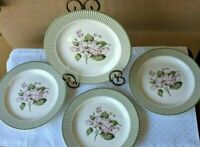 Set of 4 Salad Plates By Martha Stewart Everyday in the Hydrangea Pattern