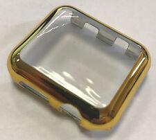Panzerglas Display Schutz Apple Watch Series 3 Cover für 38 mm gold