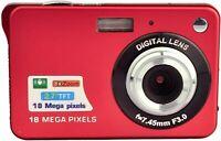 18MP 2.7inch Mini Digital Camera with 8X Digital Zoom - Red