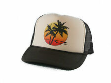 NEW Sunset Palm Trucker Hat mesh hat snapback hat tan brown