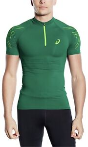 Asics Mens Inner Muscle Half Zip Muscle Top - Large