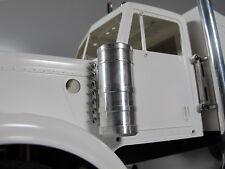 NEW Pair Aluminum Air Cleaner Intake Tank for Tamiya 1/14 Semi King Grand Hauler