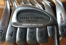 Vintage Wilson Payne Stewart Irons 4-PW, Steel Shafts, RH