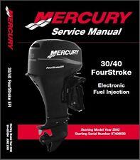 2002-2012 Mercury 30 / 40 FourStroke EFI Outboard Motor Service Manual CD