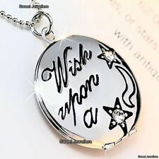 Engraved Silver Locket Necklace Star Wife Mother Daughter Sister Aunt Women Xmas
