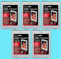 5 Ultra Pro ONE TOUCH MAGNETIC 35PT MINI SIZE UV Card Holders Display Case Sport