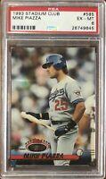 1993 Topps Stadium Club #585 Mike Piazza PSA 6 Ex-Mint Condition LA Dodgers HOF
