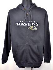BALTIMORE RAVENS Mens XL Zip Up Hoodie American Football NFL Jumper Shirt Jersey