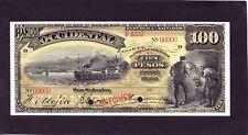 El Salvador  100 pesos 1916  Specimen  P-S180s   EF+/AU