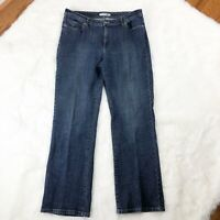 """Chicos Platinum Womens Jeans Size 12  Boot Cut High Rise 31"""" Inseam"""