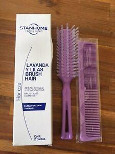 Stanhome Family Unisex Hair Brush and Comb, Cepillo y Peine p/cabello, New
