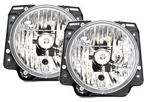 Scheinwerfer Set in Klarglas Chrom für VW GOLF 2 II 19E 8/83-12/92 für H4 Birnen