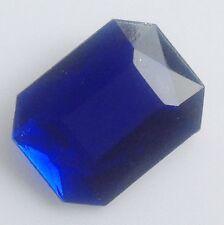 broche bijou vintage rectangle résine couleur bleu facette effet pierre 573