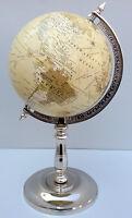Decorative Desktop Rotating Globe Yellow Ocean World Earth Office Table Decor