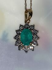 10K Gold Diamond Emerald pendant Necklace Buy Macy's
