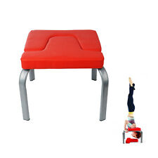 Yoga Inversion Chair Headstand Bench Exercise Fitness Stool PU Workbench