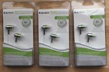 LOT Set of 3 A4TECH MK-650 Green iSecureFit Super Bass In-Ear Earbuds for iPod