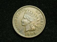 SUMMER SALE!!  AU 1904  INDIAN HEAD CENT PENNY w/ FULL LIBERTY & DIAMONDS #78c