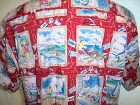 vintage Joe Kealuha Hawaii Hemd aloha shirt surfer fischen hawaiian shirts L