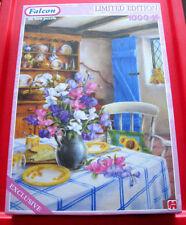 Lesley Hammett CHEESE &TEA 1000 Ltd Jigsaw Puzzle SEALED Country Kitchen/Flowers