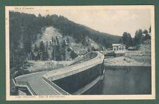 Calabria. COSENZA, Sila. Lago Ampollino, Diga di sbarramento. Cart. viagg. 1933.