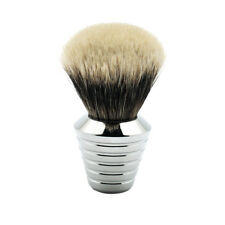 Frank Shaving Two Band Finest Badger Hair Shaving Brush Solid Metal Handle