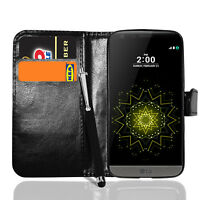 Leather Flip Wallet Case Magnetic Stand Cover For LG G5 SE+ Screen + Stylus
