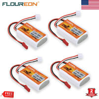 4PCS 2S 7.4V 800mAh 25C LiPo Battery JST for RC Car Truck Helicopter Boat Drone
