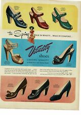 1950 VITALITY Women's Ladies Shoes art Vintage Ad