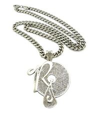 "ICE BLING JAY-Z ROCAFELLA PIECE WITH 6mm 36"" STAINLESS STEEL CUBAN CHAIN"