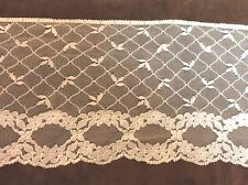 White Net  Wide  Lace 5 inches  1 yard
